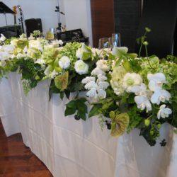 実例:1月披露宴の装花